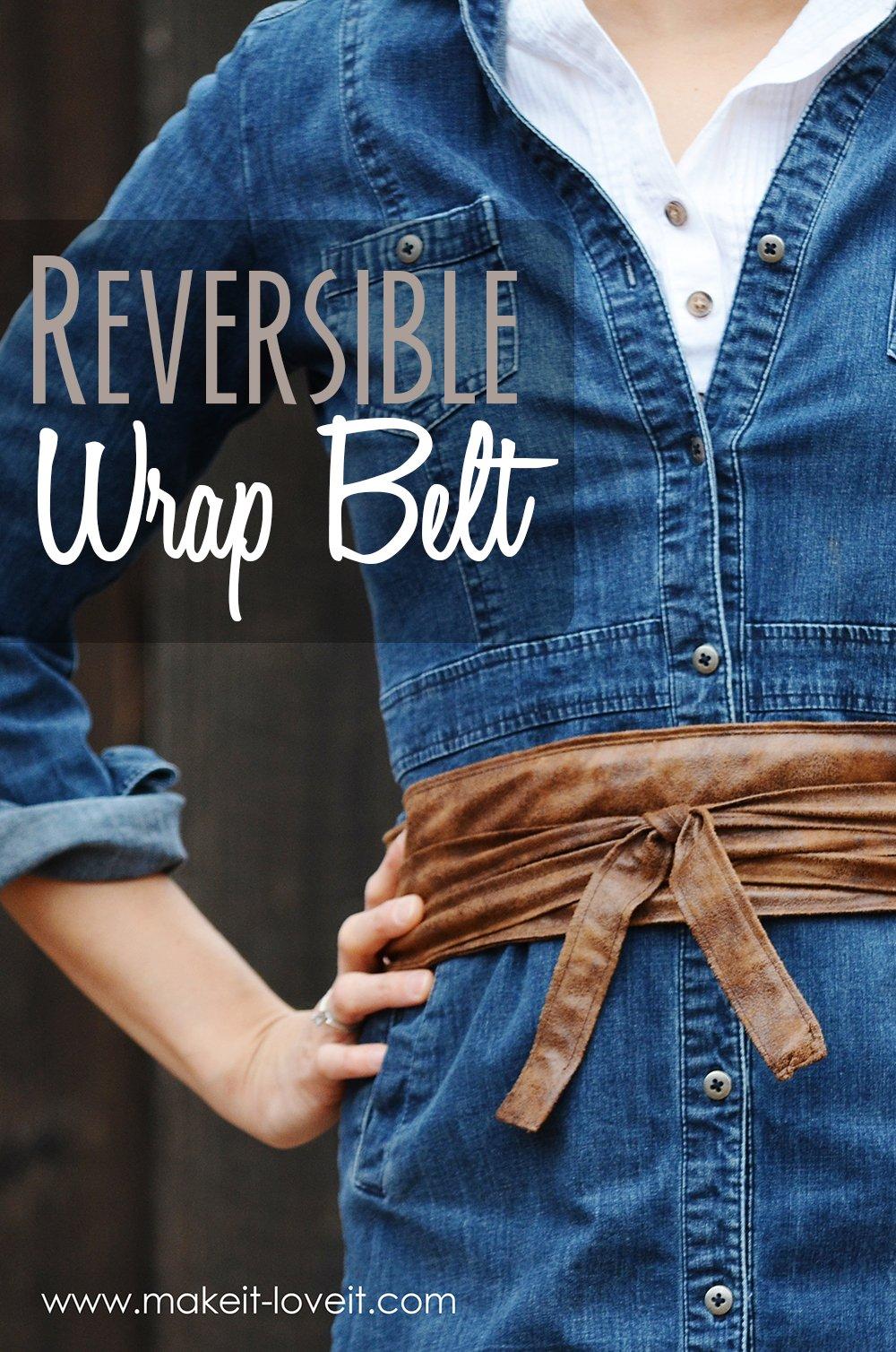 Diy reversible wrap belt