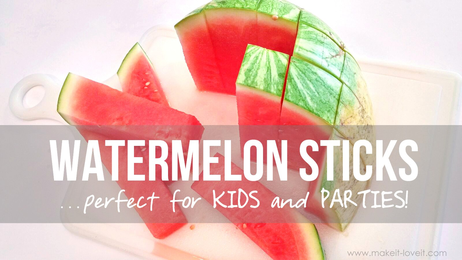 Watermelon sticks…perfect for kids and parties!