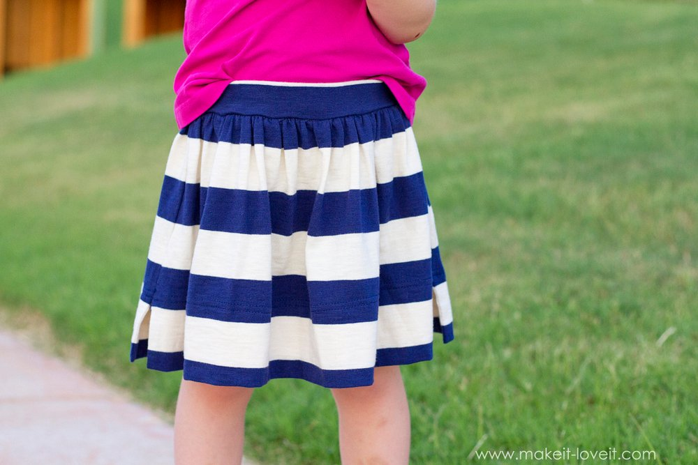 Back-to-School Skirt with Attached Shorts (...the CHEATER method) | via Make It and Love It