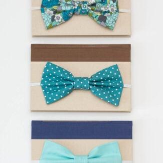 Sew a big bow bookmark