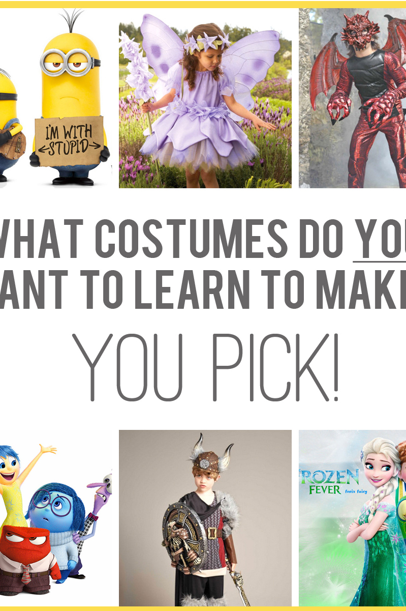 Halloween costume thoughts — what do you want to make? (…then let's vote!)