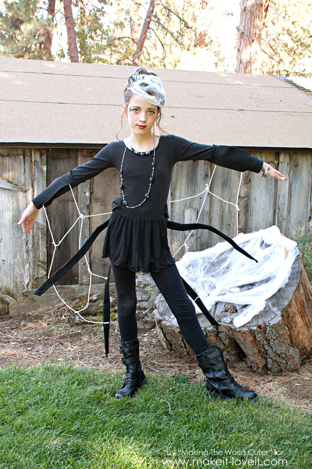 Diy spider costume for tweens teens or any age really for Diys for tweens