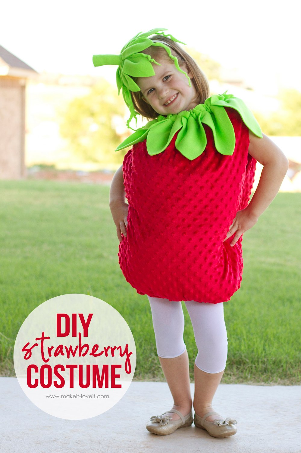 Diy strawberry costume…a tutorial, plus one to give away!