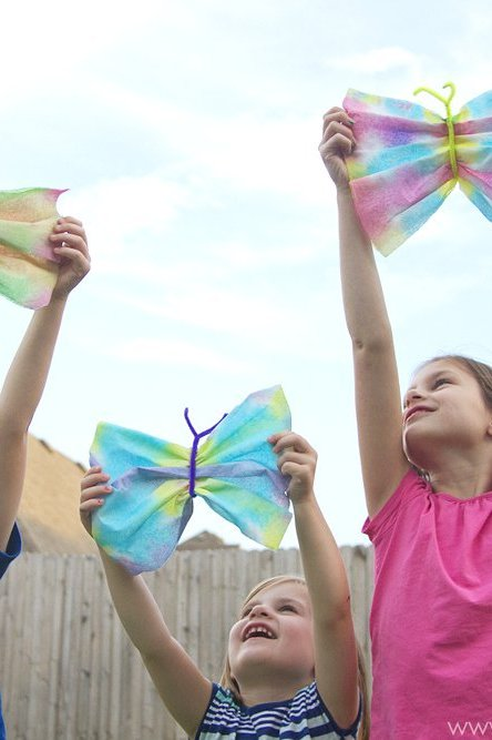 """Life can be crazy with 4 kids…plus, a """"butterfly craft"""""""