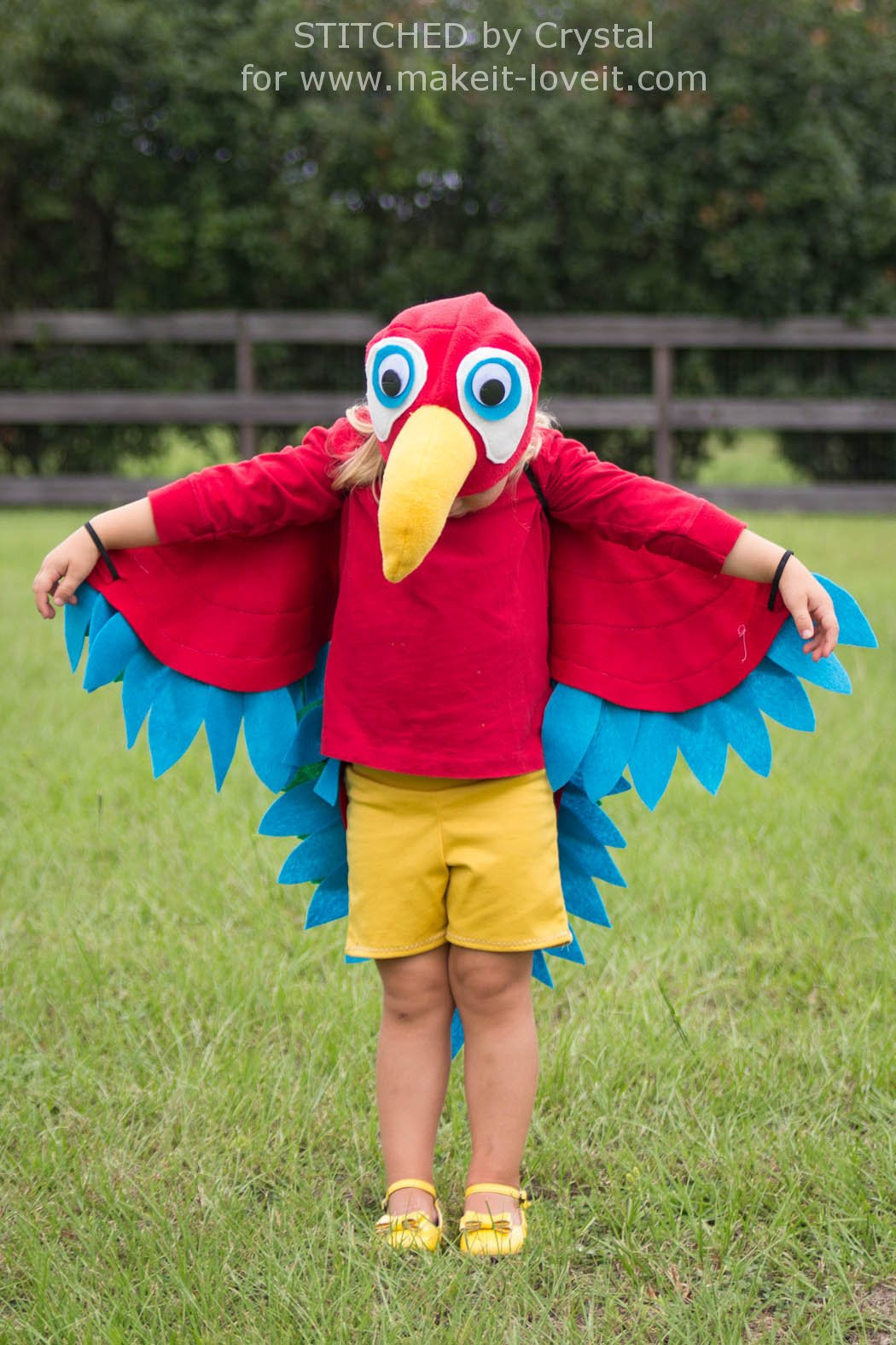 Sew an Easy Parrot Costume (perfect for Halloween or dress-up!) | via Make It and Love It