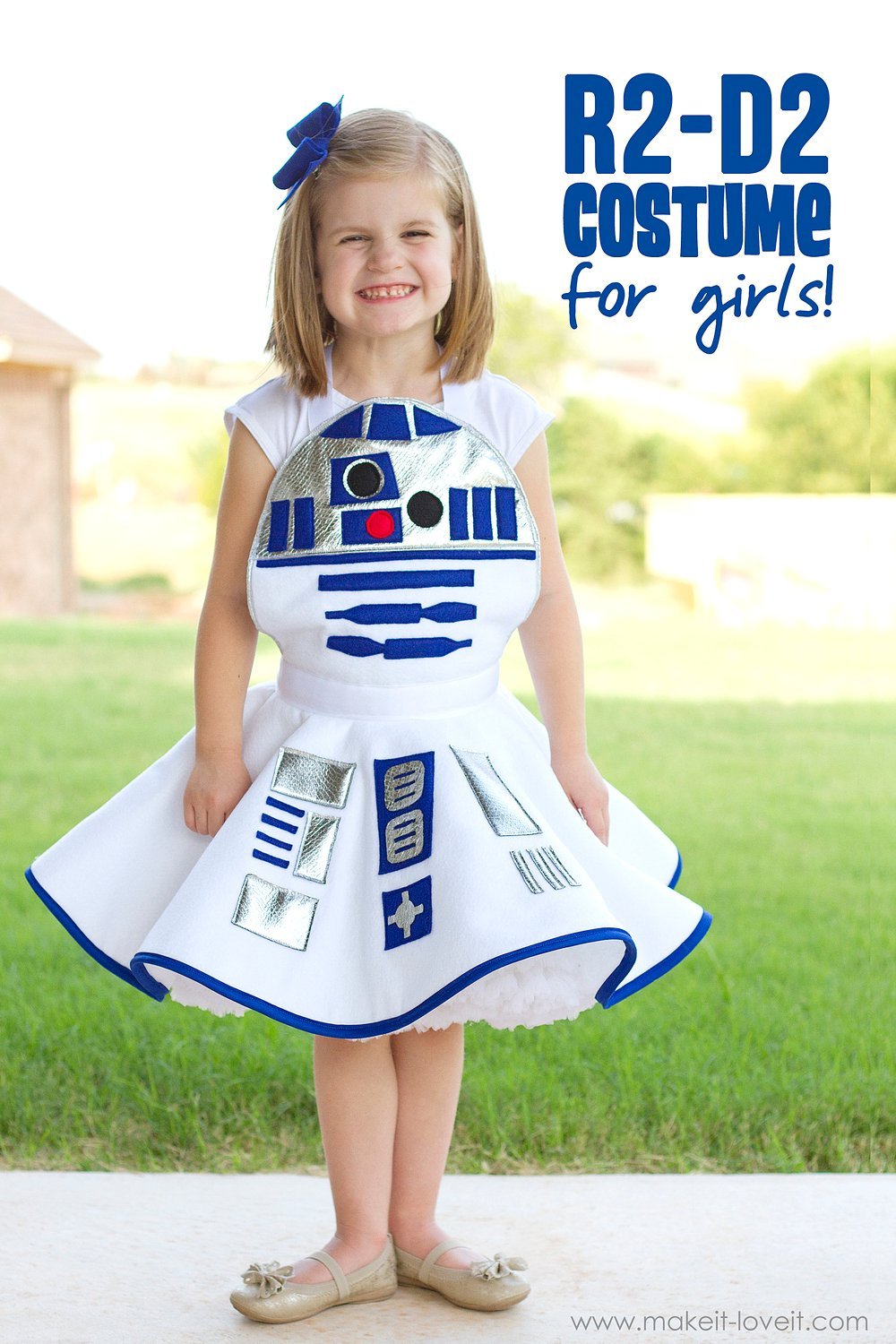 Star wars r2-d2 dress costume for girls…plus, one to give away!
