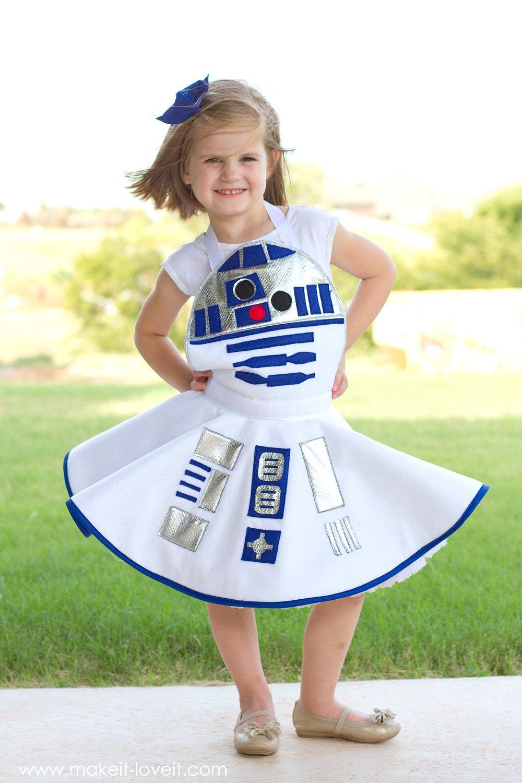 Star wars r2 d2 dress costume for girls diy star wars r2 d2 dress costume for girls via make it and love solutioingenieria Images