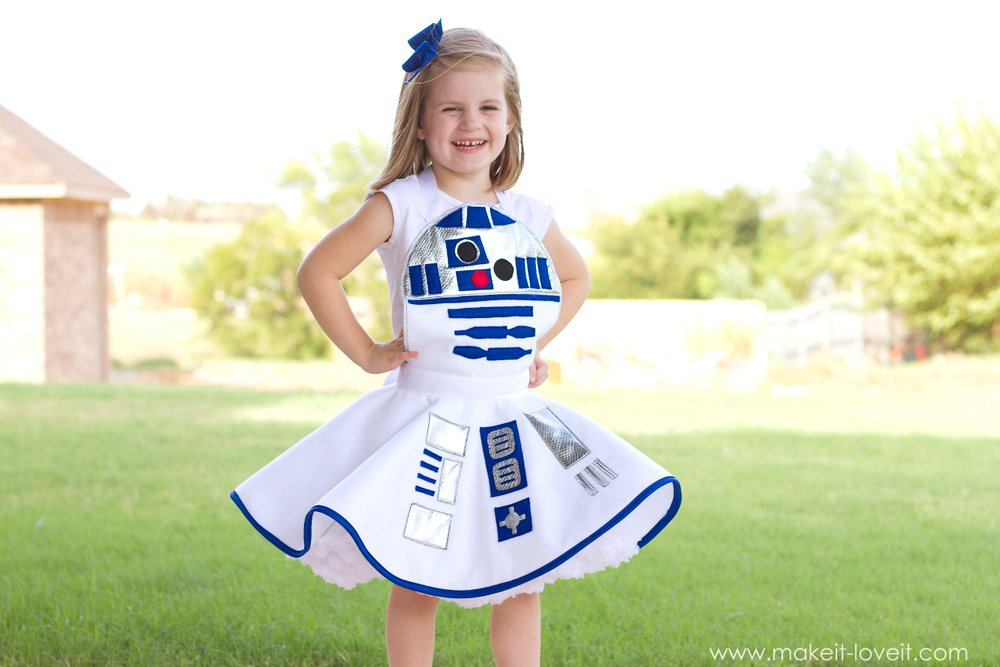 Star wars r2 d2 dress costume for girls diy star wars r2 d2 dress costume for girls via make it and love solutioingenieria Gallery