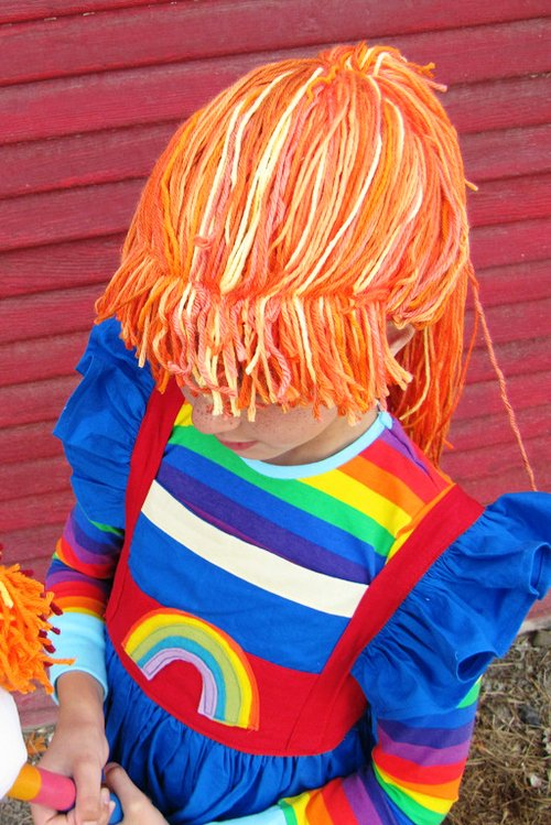 Diy yarn wig for rainbow brite (…or any other character)
