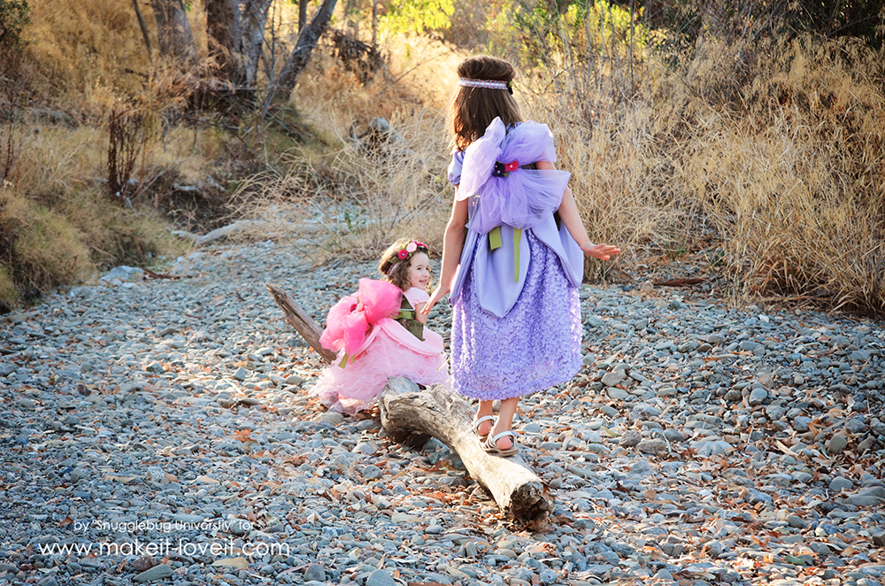 DIY Woodland Fairy Costume. Learn how to make your own fairy dress, fairy slippers, and fairy wings.   via Make It and Love It