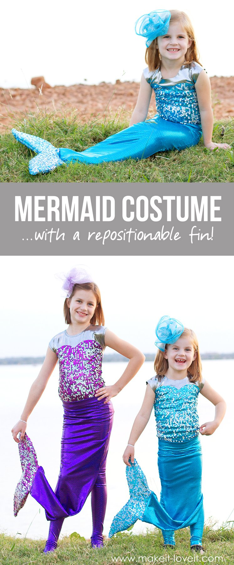 Diy Mermaid Costume With A Repositionable Fin