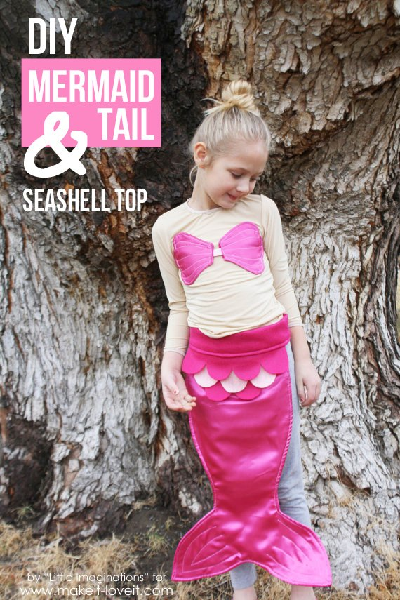 Diy mermaid tail and seashell top