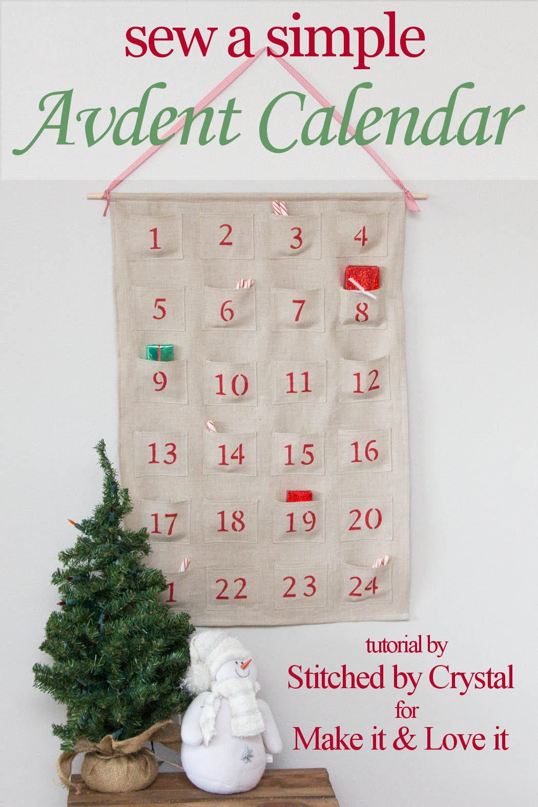 Diy Sewing Advent Calendar : Sew a simple advent calendar for christmas make it