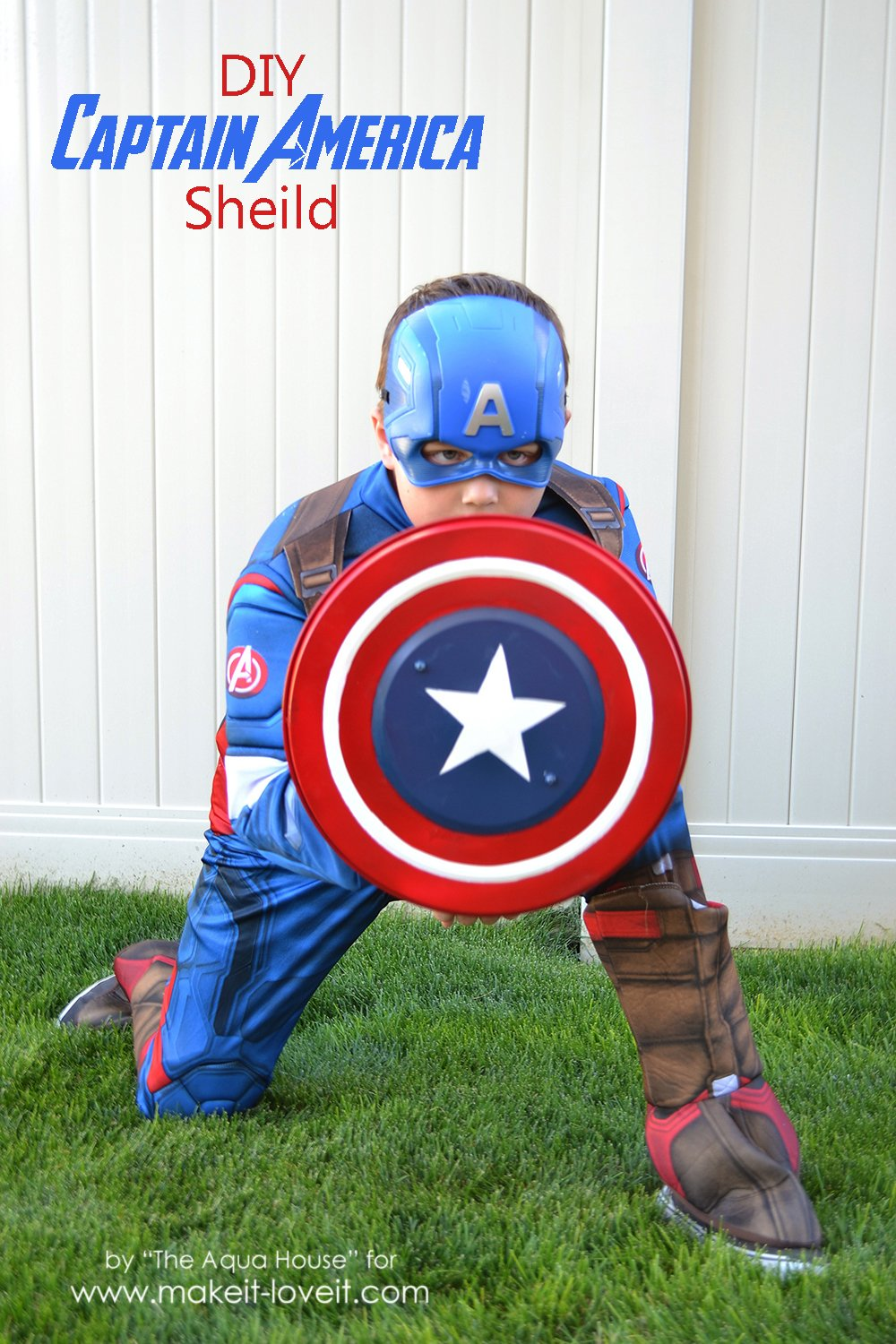 DIY Captain America Shield -- an IKEA Hack | via Make It and Love It