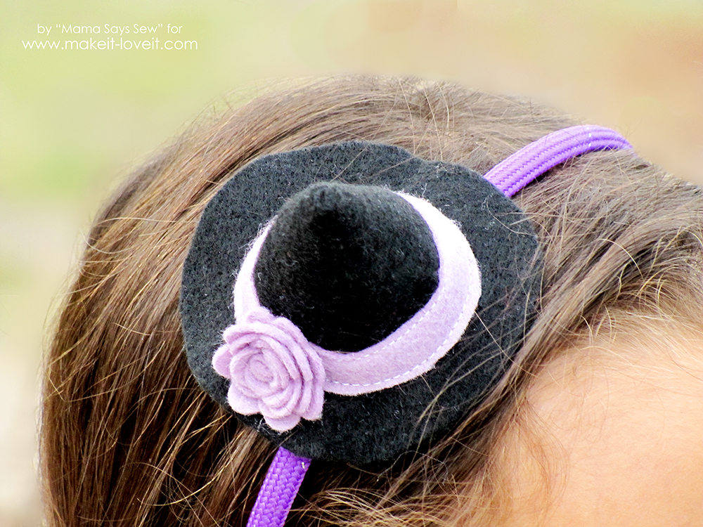 Diy Mini Witch Hat Headband A Great Last Minute
