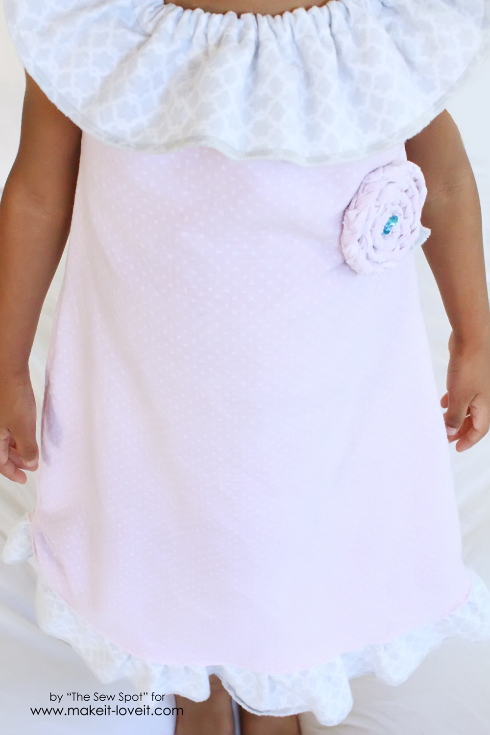 Girl's Nightgown from Receiving Blankets | via Make It and Love It