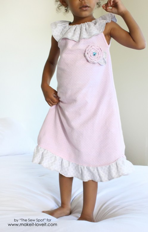 Make a Girl's Nightgown from receiving blankets