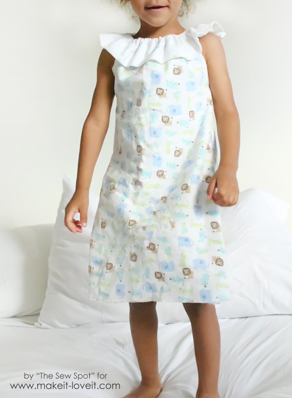 Girl\'s Nightgown from Receiving Blankets – Make It and Love It