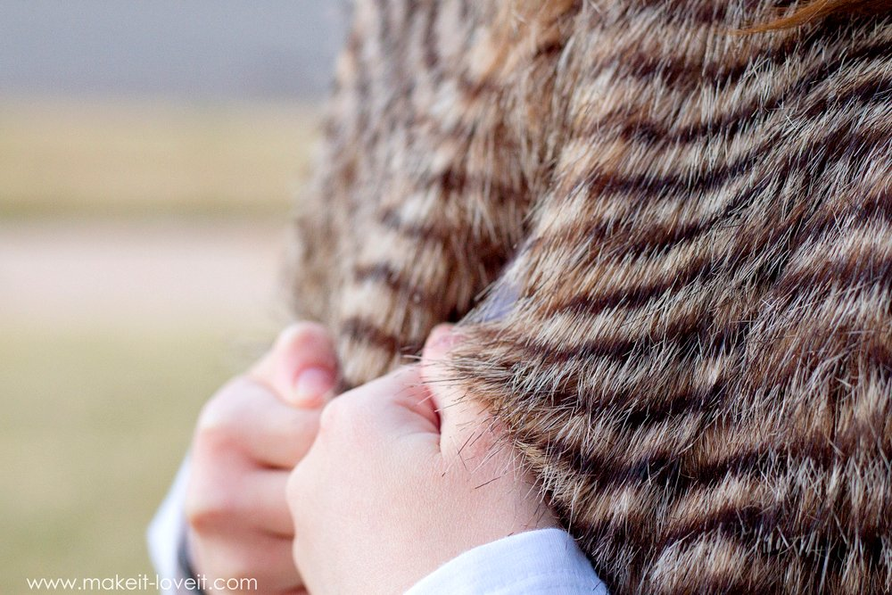 Make a FAUX FUR VEST...easier than you might think! | via Make It and Love It