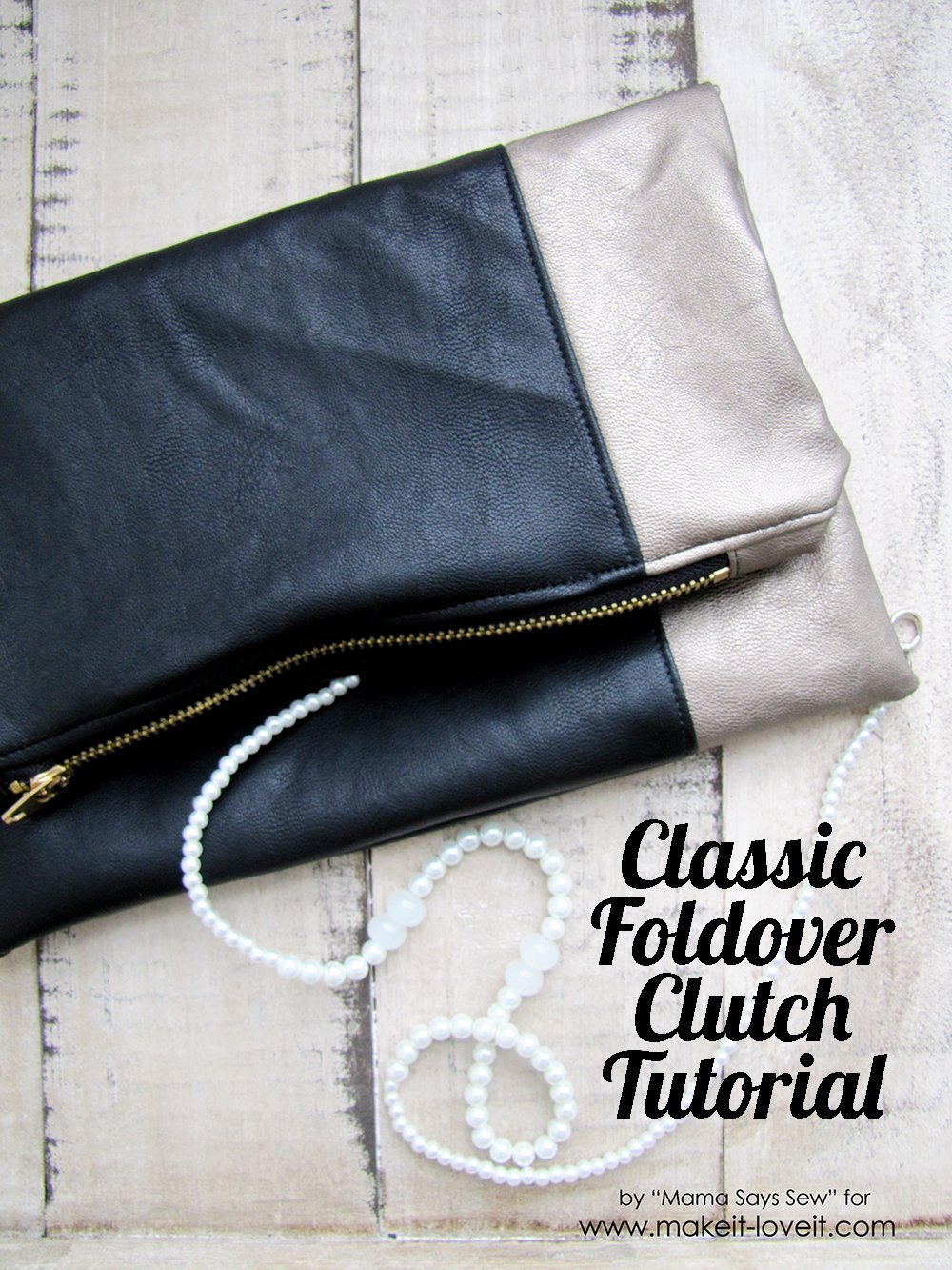 Classic Leather Foldover Clutch Tutorial