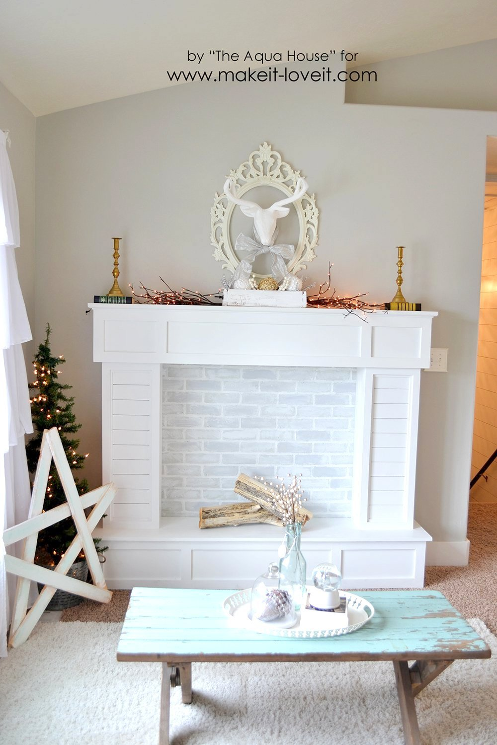 the so is thewhitebuffalostylingco fireplace faux did far image fireplaces room diy house or instagram in living things we of time up my on our blog surround shows about com one it every favorite