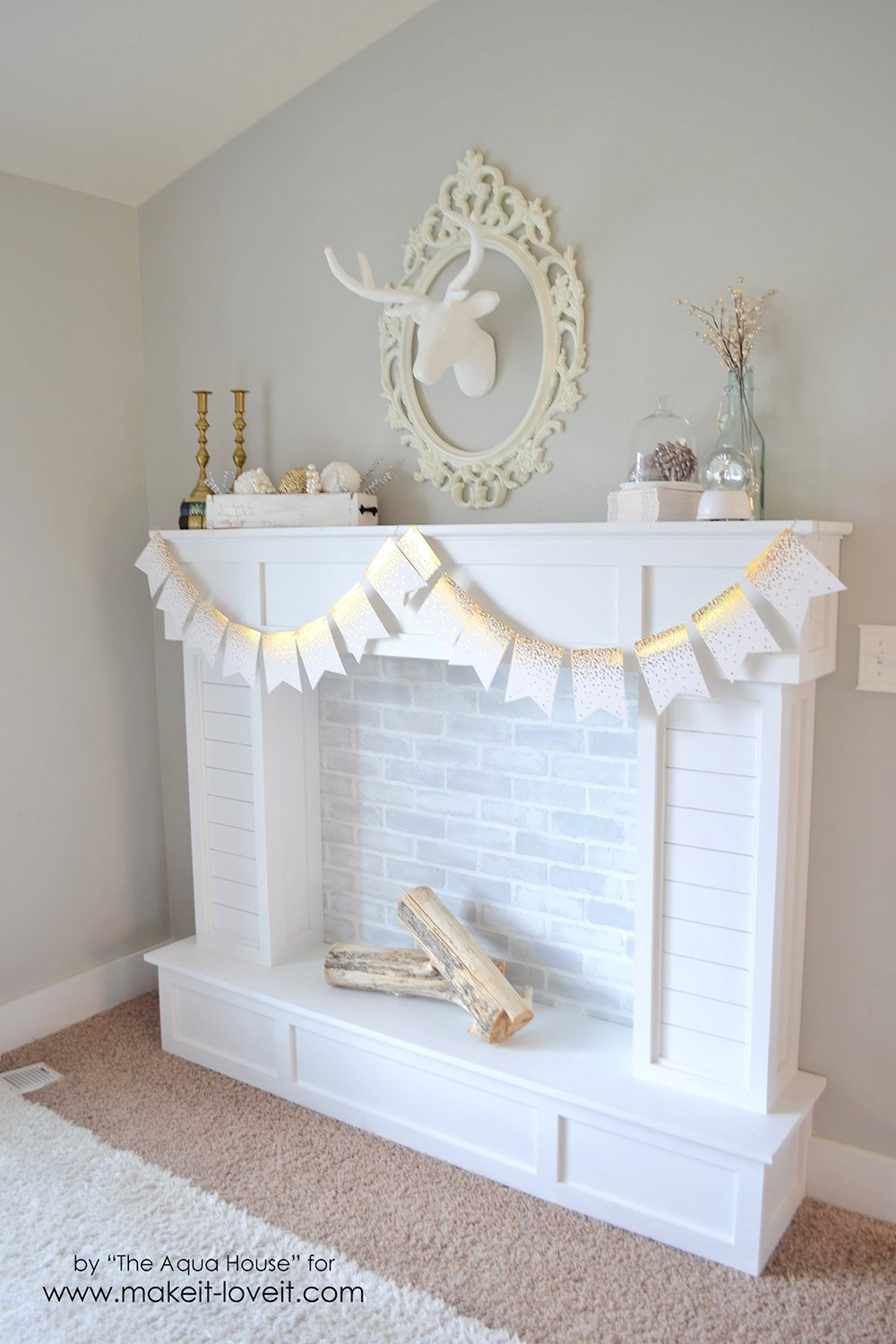 faux with fireplace easy pinterest fireplaces of fake mantel