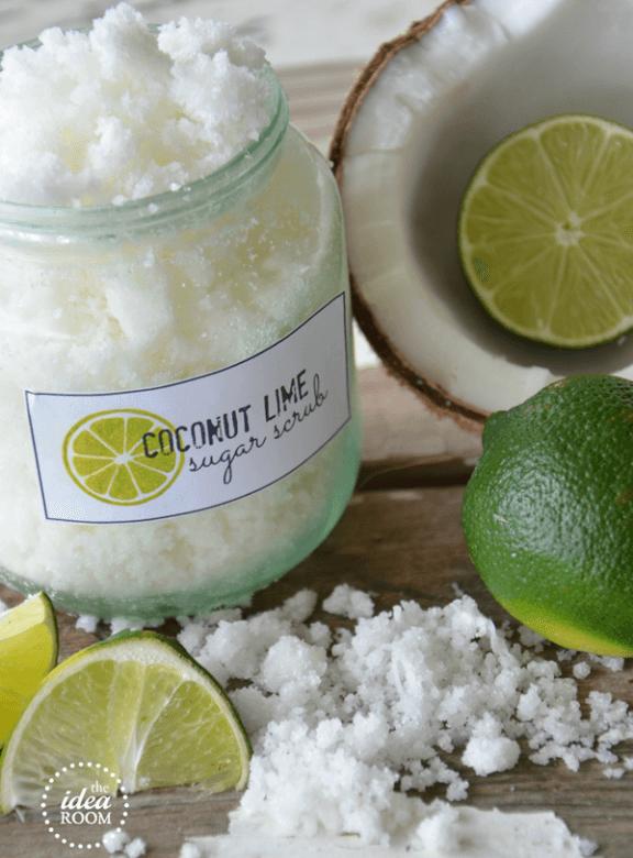 Homemade Sugar Scrub {Coconut Lime}