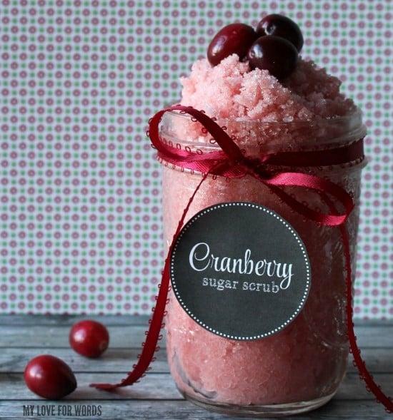 Cranberry DIY Sugar Scrub Recipe