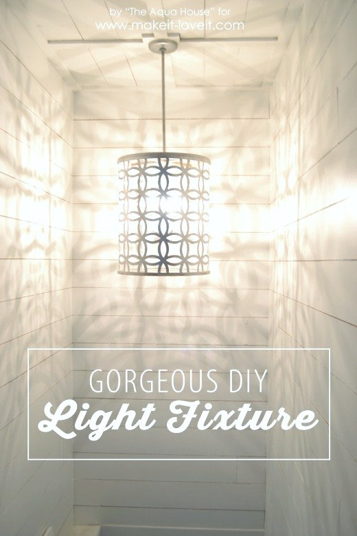 DIY Light Fixture...from a drum   via Make It and Love It