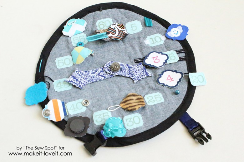 DIY Handmade Kids Activity Clock | via Make It and Love It