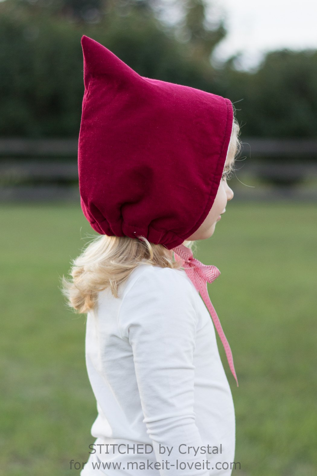 Sew a Pixie Hat/Bonnet....so simple to make and cute for winter! | via Make It and Love It
