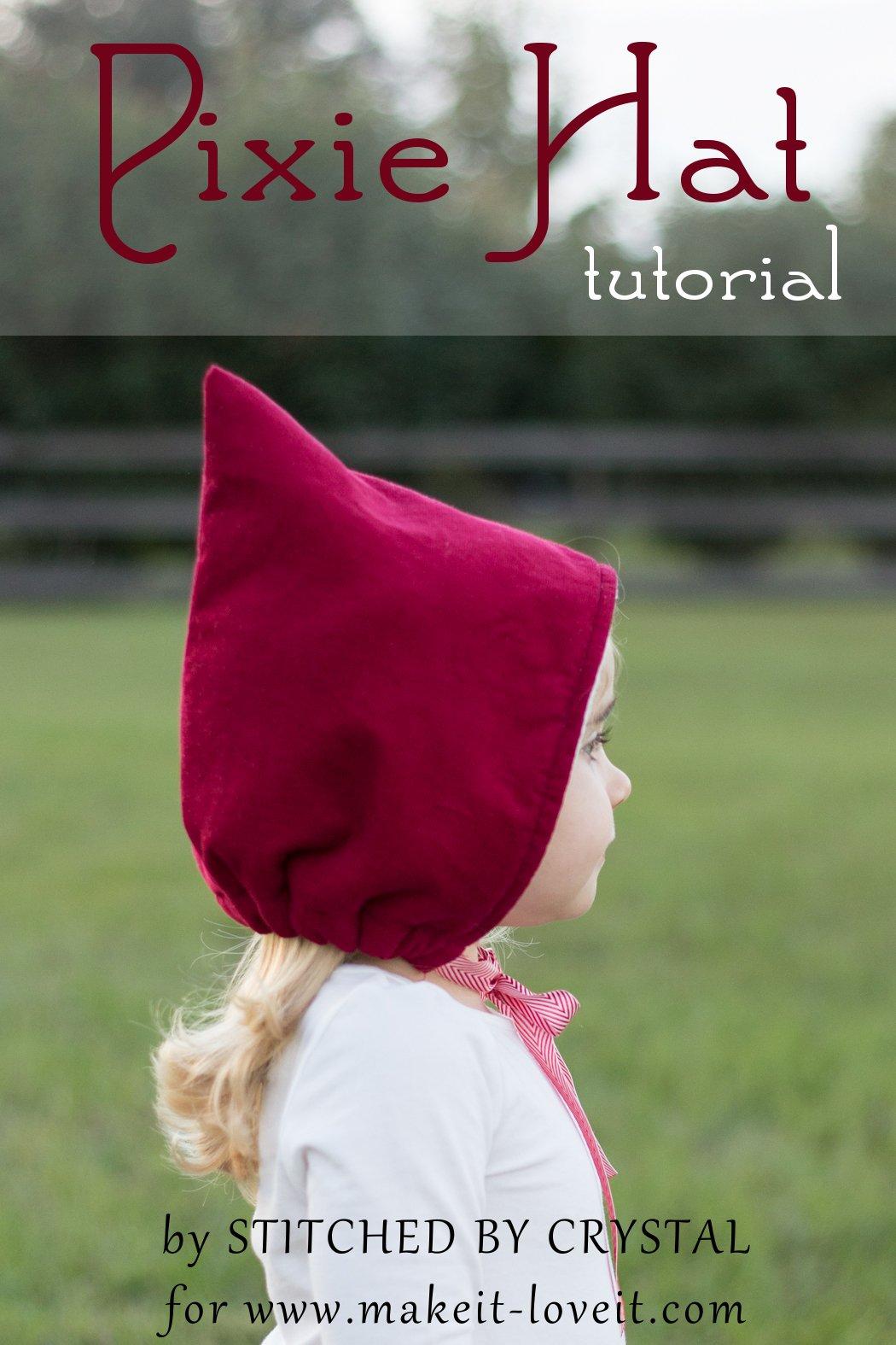 Sew a pixie hat/bonnet for winter!