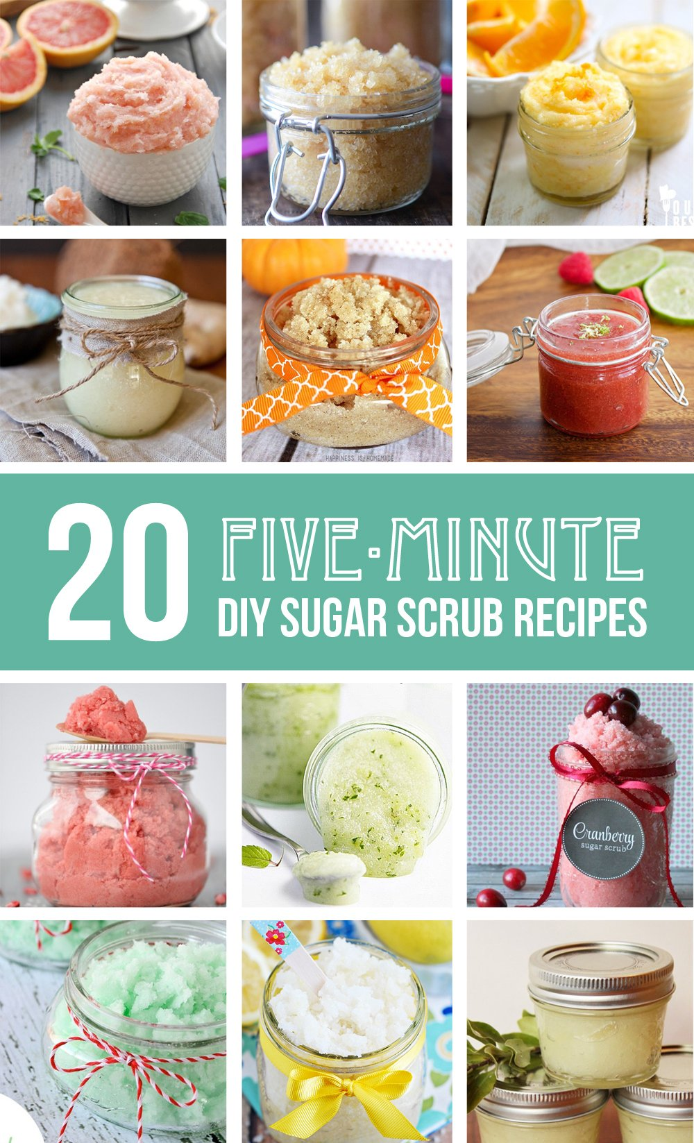 20 Homemade Sugar Scrub Recipes