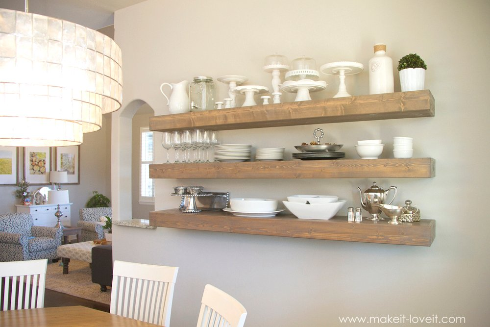 How to build simple floating shelves for any room in Floating shelf ideas for kitchen