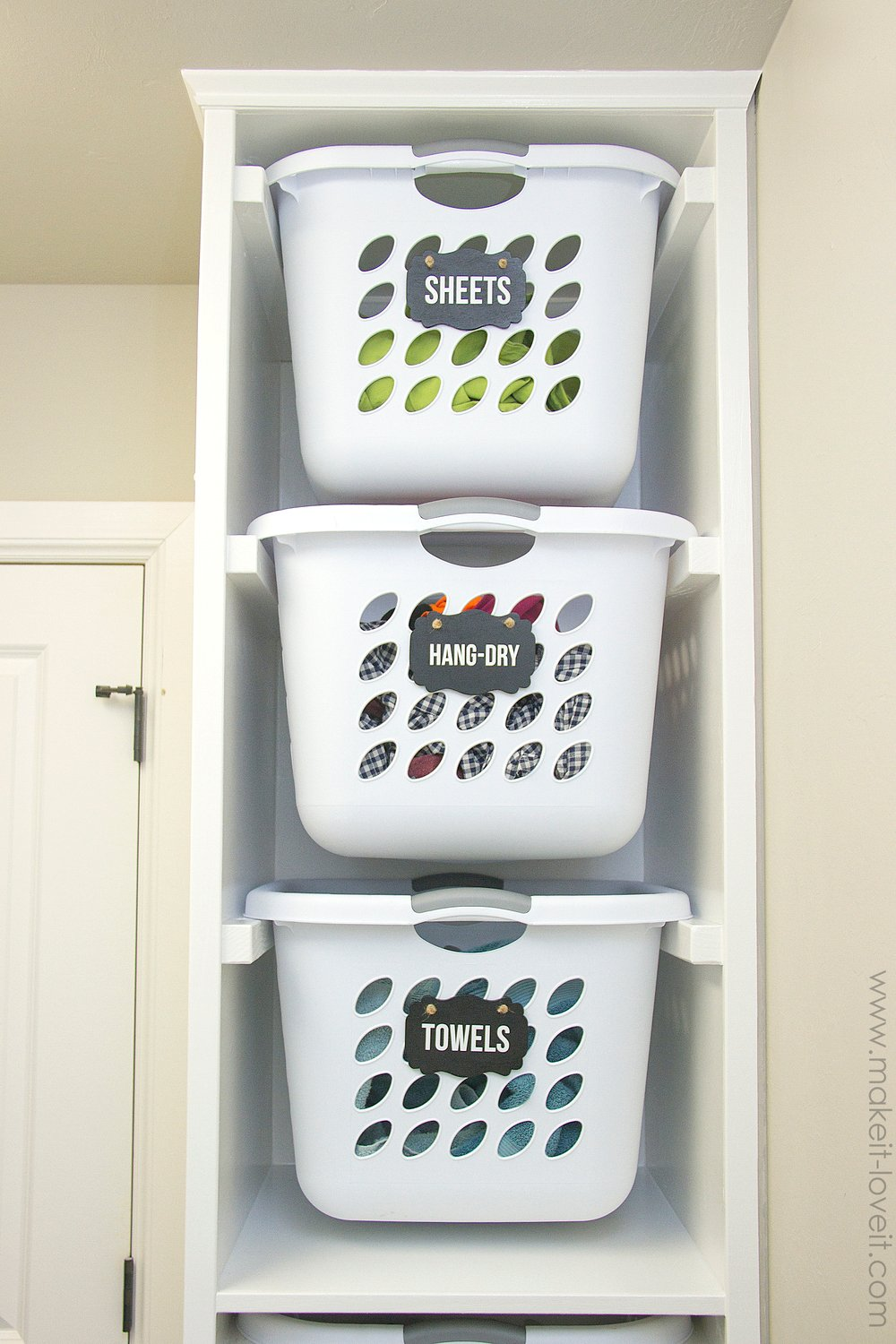 Diy Laundry Basket Organizer Built In Make It And