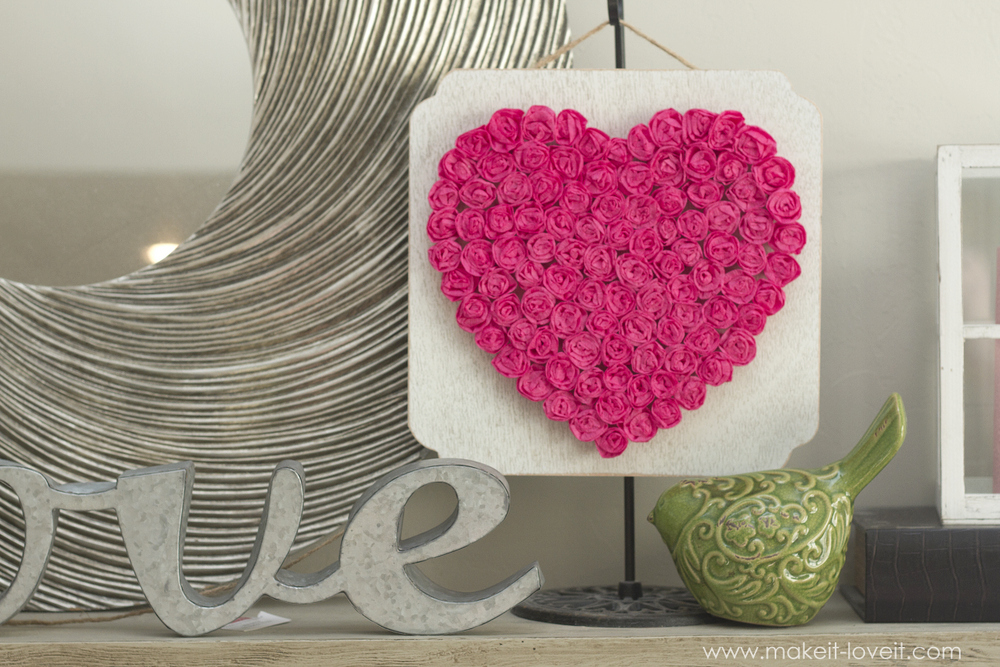 Diy crepe paper rose heartexpensive valentine decor or any diy crepe paper rose heartexpensive valentine decor or any time of mightylinksfo
