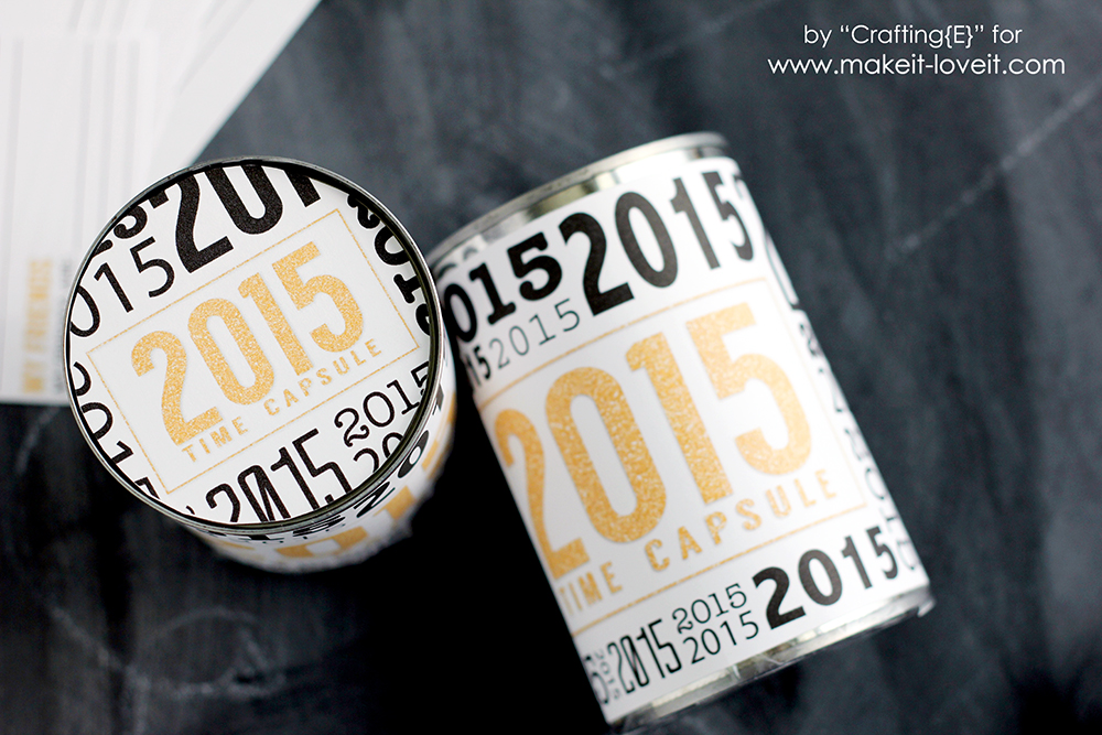 Create a Time Capsule...from an OLD CAN! (Free Printable included!) | via Make It and Love It