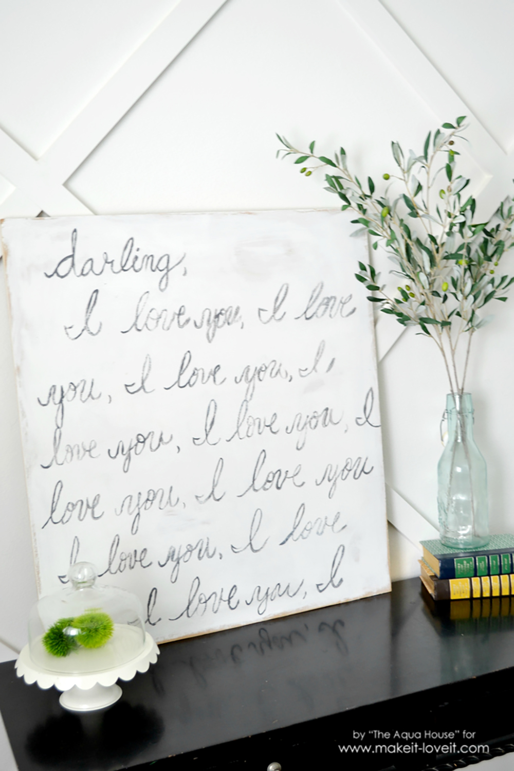 "Knock-Off ""Darling, I Love You"" Sign 