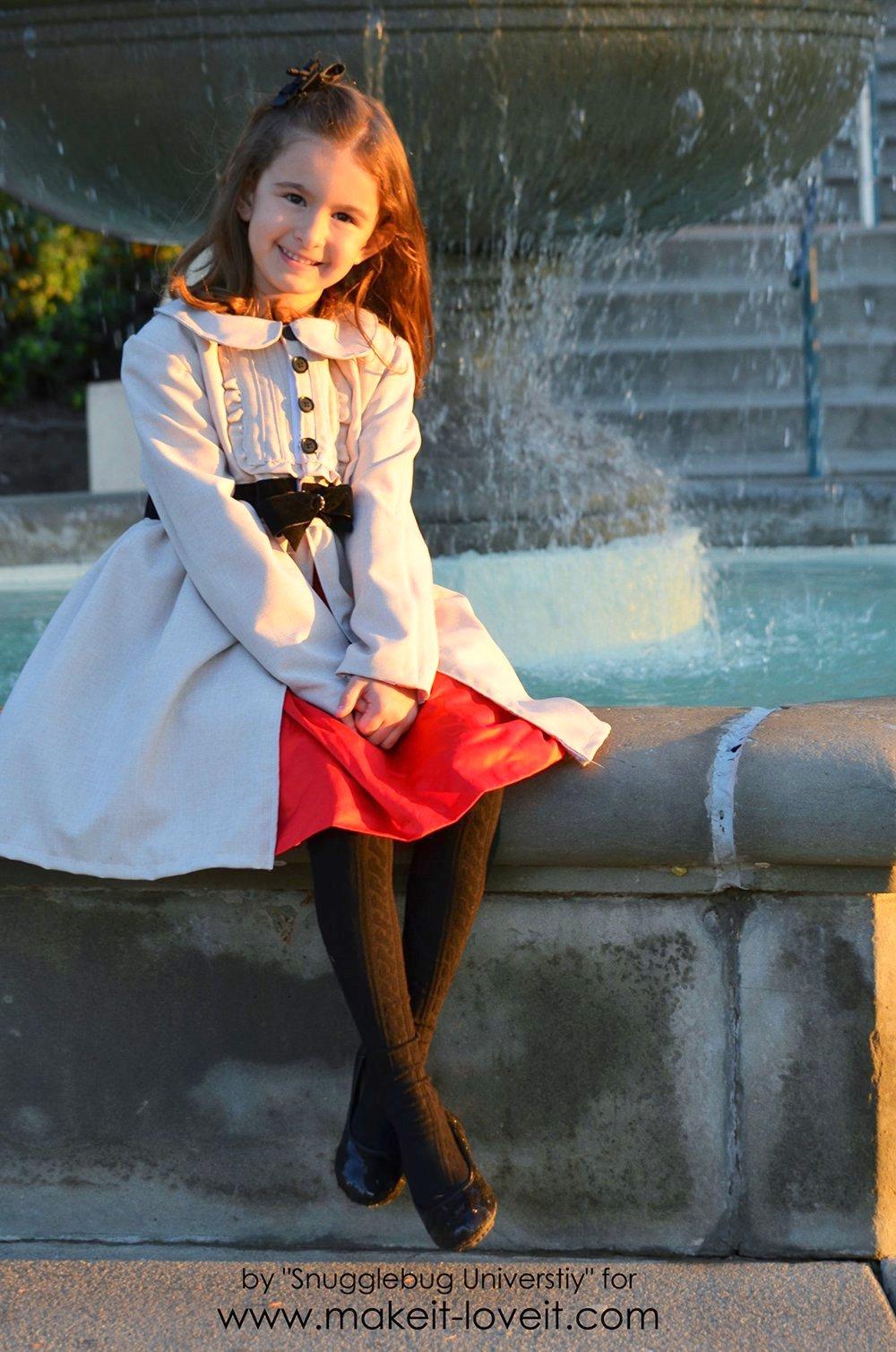 Little Girl's Dress Coat Tutorial | via Make It and Love It
