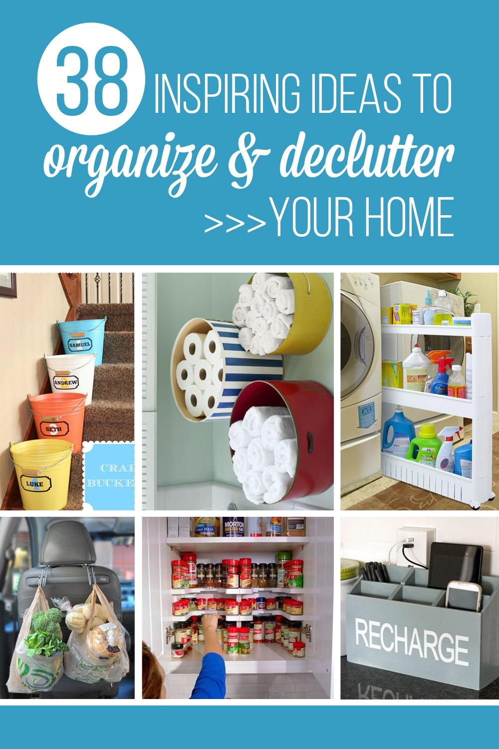 20 Inspiring Ideas to Organize and Declutter Your Home | via Make It and Love It