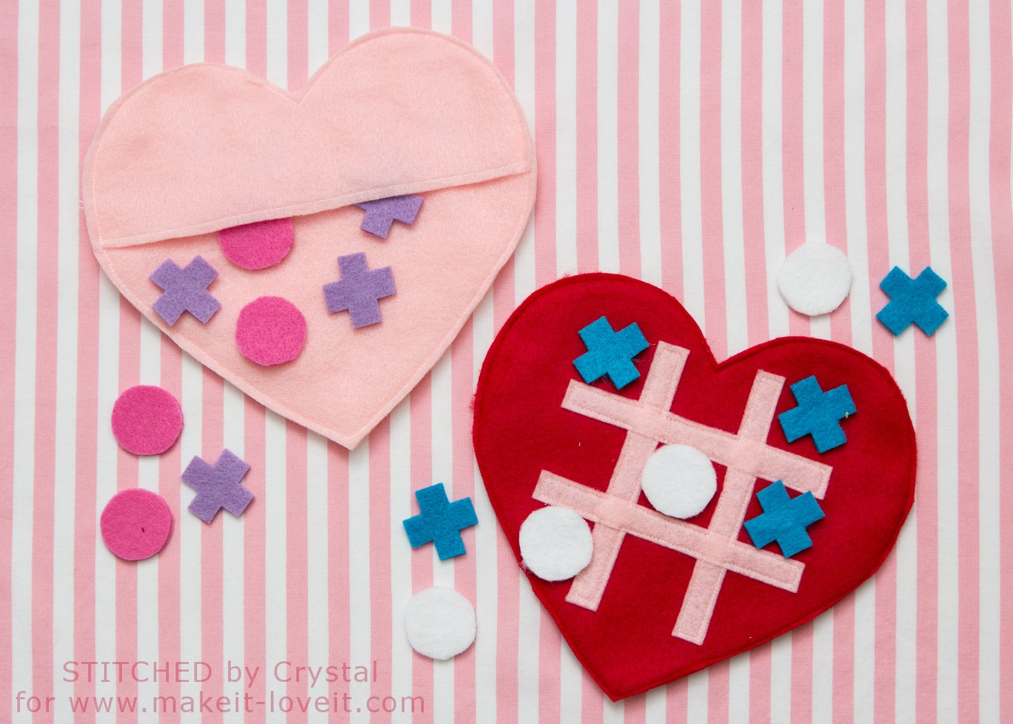 DIY Valentine Tic-Tac-Toe Game | via Make It and Love It