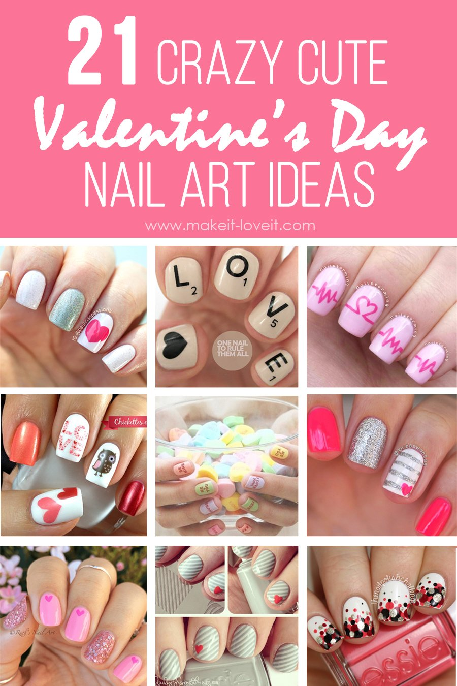 21 Crazy Cute Valentine S Day Nail Art Ideas Make It And Love It