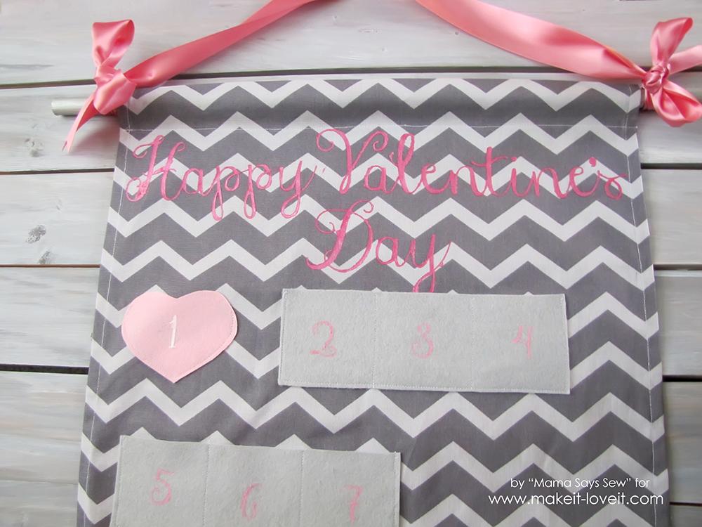 Valentine's Day Advent Calendar Tutorial   via Make It and Love It