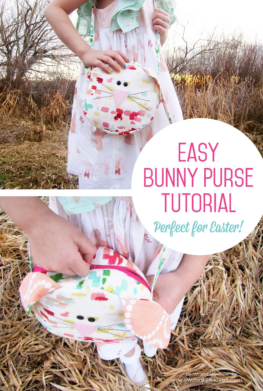 Easy bunny purse tutorial perfect for easter