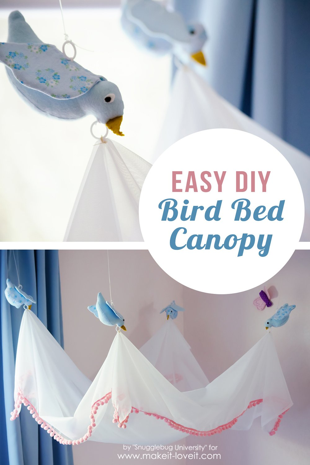 Easy diy bird canopy for your bed 32