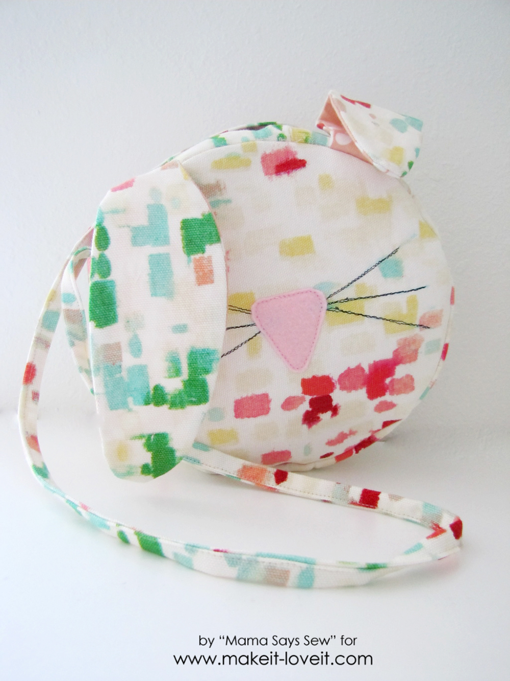Easy bunny purse tutorial - perfect for Easter (26)