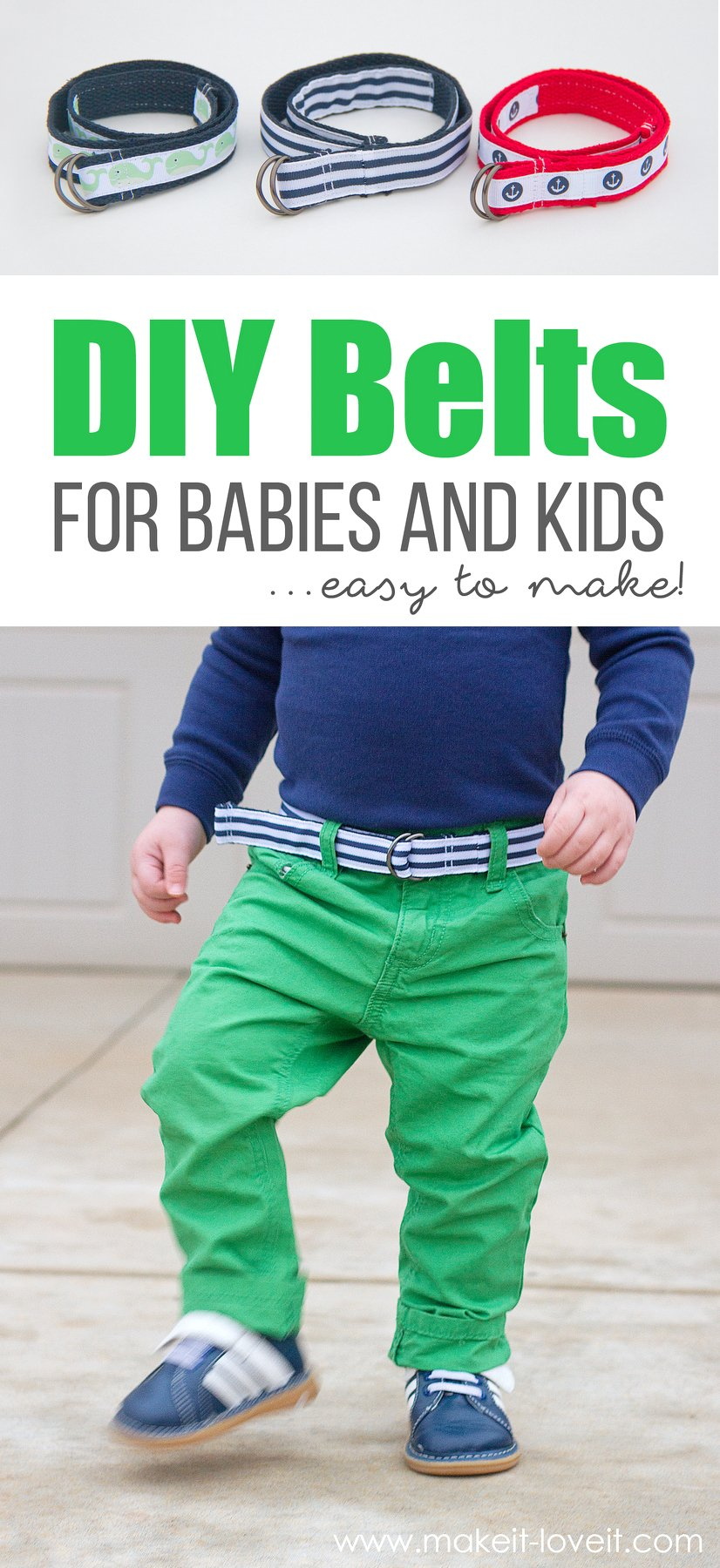 How to make belts for babies & kids…the easy way!