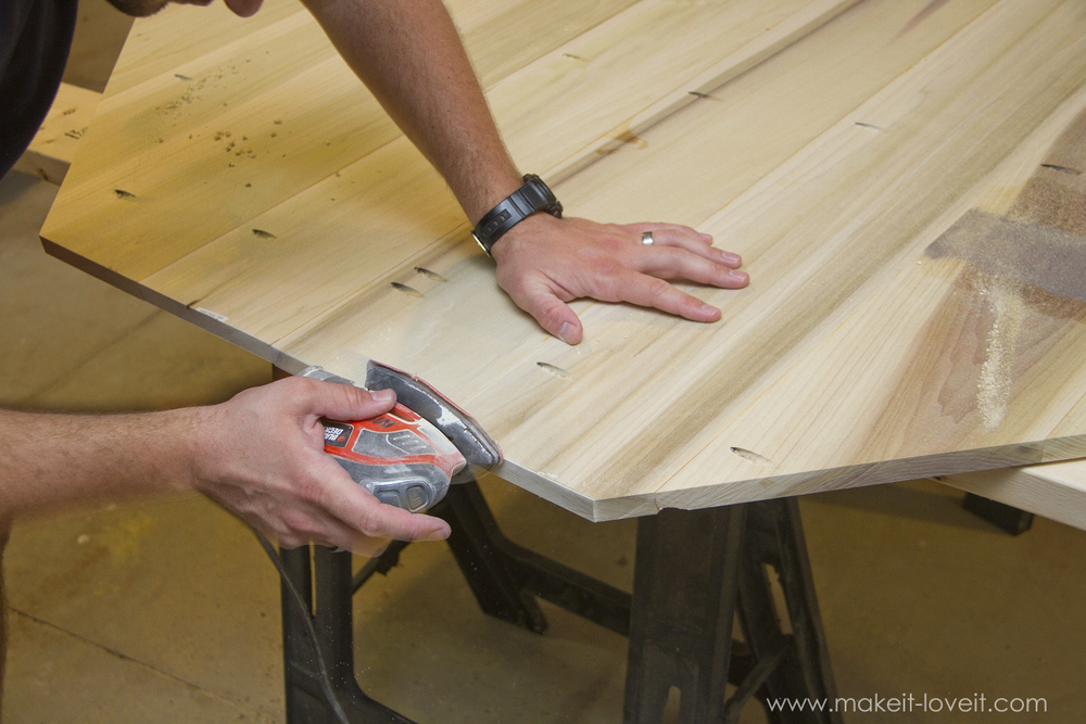 Diy Octagon Dining Room Table With A Farmhouse Base Make It And Love It