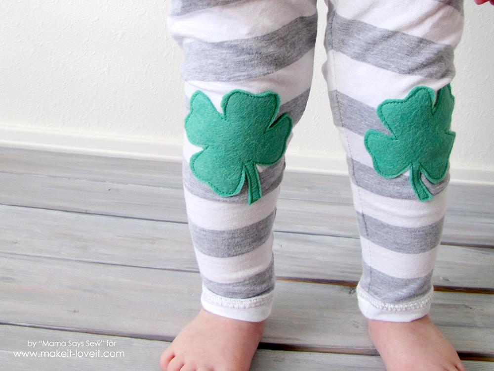 Easy Shamrock Leggings Tutorial | via Make It and Love It