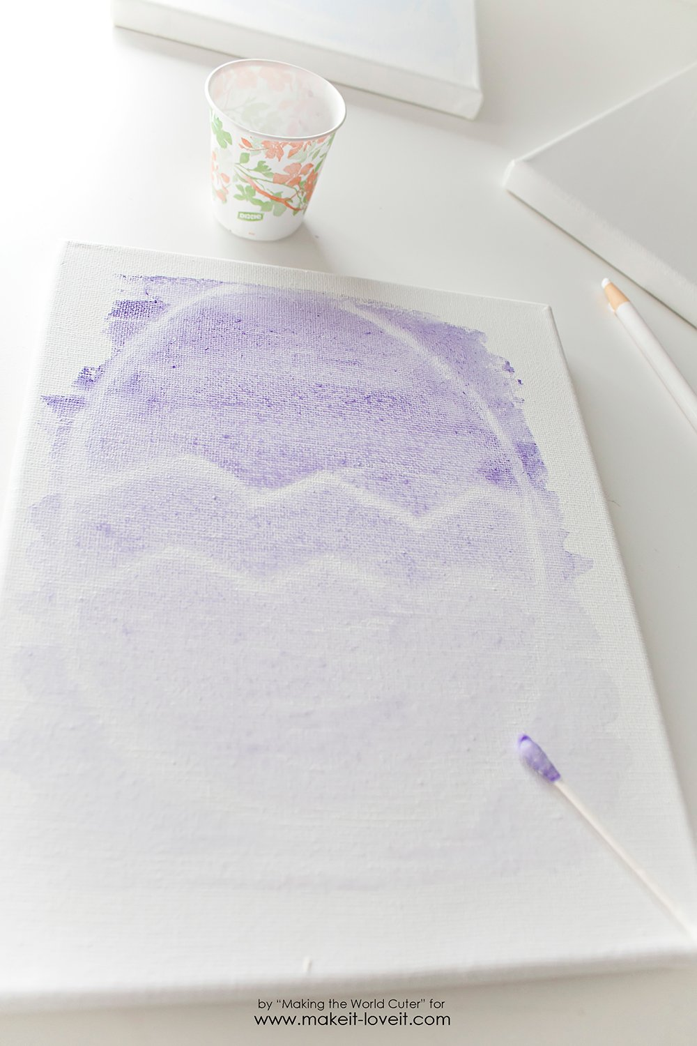 Watercolor resist easter egg canvases (6)